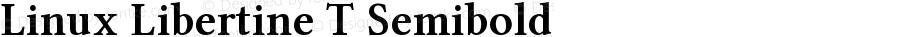 Linux Libertine T Semibold Version 5.1.2
