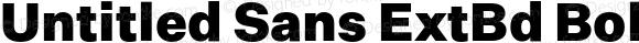 Untitled Sans ExtBd Bold