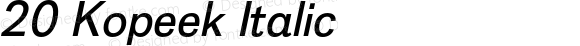 20 Kopeek Italic