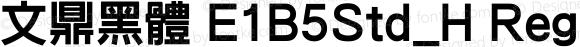 文鼎黑體 E1B5Std_H Regular Version 1.00