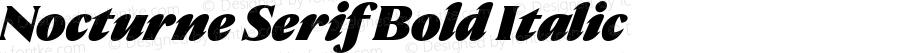 Nocturne Serif Black italic