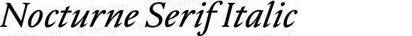 Nocturne Serif Italic