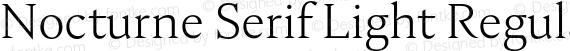 Nocturne Serif Light Regular preview image