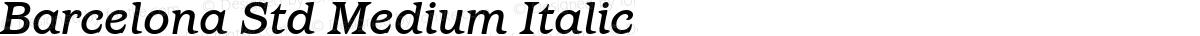 Barcelona Std Medium Italic
