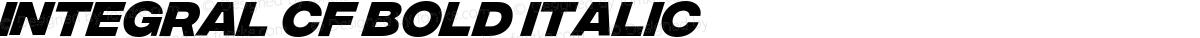Integral CF Bold Italic