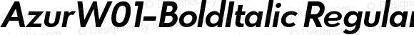 AzurW01-BoldItalic Regular Version 1.00