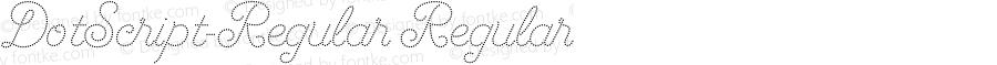 DotScript-Regular Regular Version 1.00