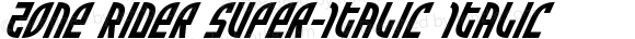 Zone Rider Super-Italic Italic Version 3.0; 2017