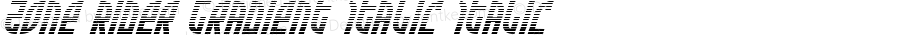Zone Rider Gradient Italic Italic Version 3.0; 2017