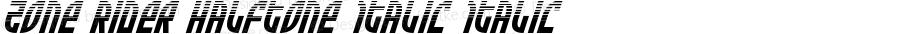 Zone Rider Halftone Italic Italic Version 3.0; 2017