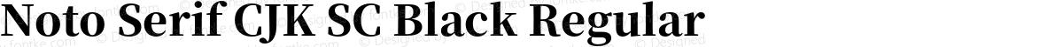 Noto Serif CJK SC Black Regular