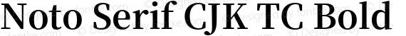 Noto Serif CJK TC Bold preview image