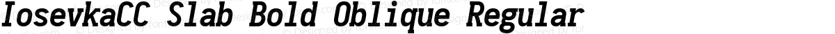 IosevkaCC Slab Bold Oblique Regular