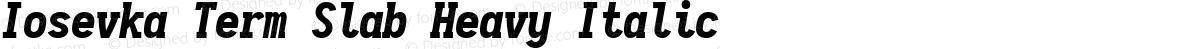 Iosevka Term Slab Heavy Italic