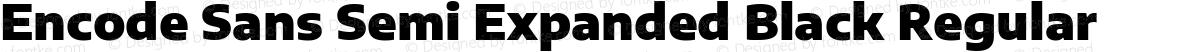 Encode Sans Semi Expanded Black Regular