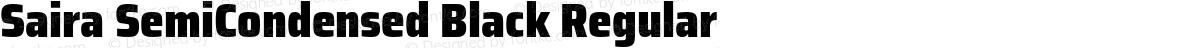 Saira SemiCondensed Black Regular