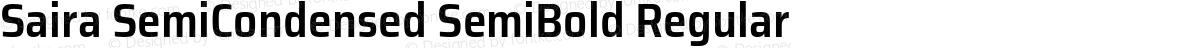 Saira SemiCondensed SemiBold Regular