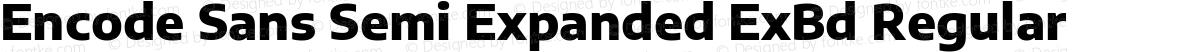 Encode Sans Semi Expanded ExBd Regular