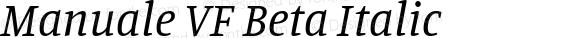 Manuale VF Beta Italic