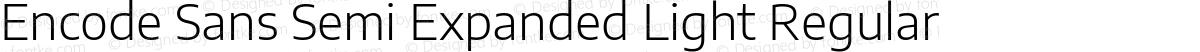 Encode Sans Semi Expanded Light Regular