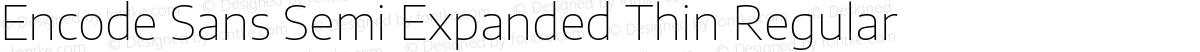 Encode Sans Semi Expanded Thin Regular