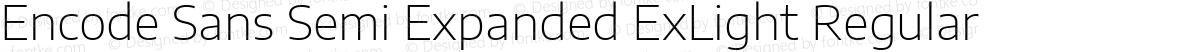 Encode Sans Semi Expanded ExLight Regular