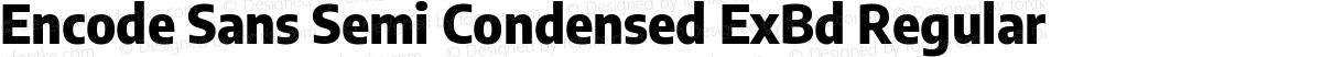 Encode Sans Semi Condensed ExBd Regular