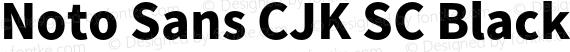 Noto Sans CJK SC Black Regular preview image