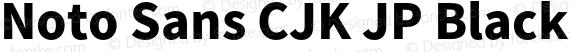 Noto Sans CJK JP Black Regular preview image