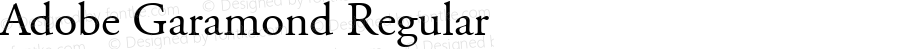 Adobe Garamond Regular