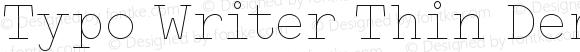 Typo Writer Thin Demo Regular