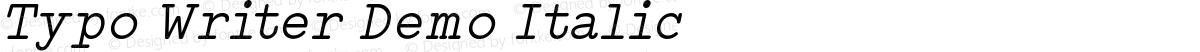 Typo Writer Demo Italic