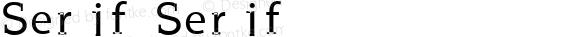 Serif Serif Unknown