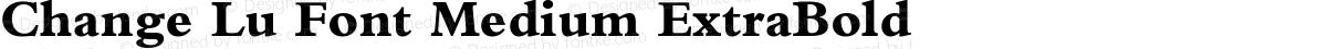 Change Lu Font Medium ExtraBold