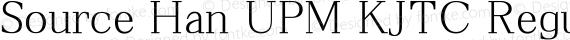 Source Han UPM KJTC Regular preview image