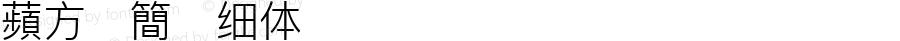 蘋方-簡 细体 Version 12.0d6e3