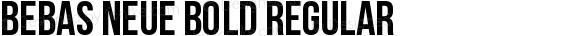 Bebas Neue Bold Regular preview image