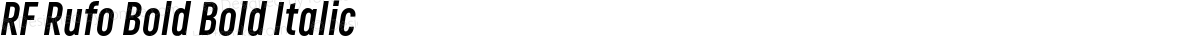RF Rufo Bold Bold Italic