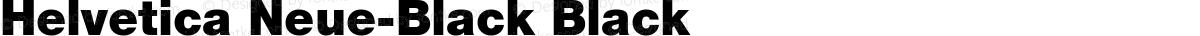 Helvetica Neue-Black Black