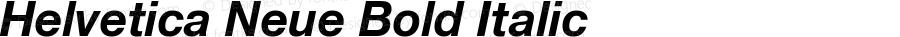 Helvetica Neue-Bold Italic