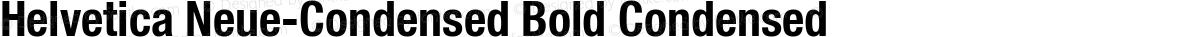 Helvetica Neue-Condensed Bold Condensed