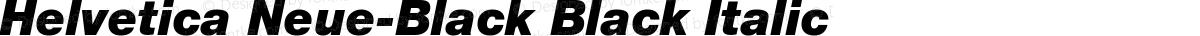 Helvetica Neue-Black Black Italic