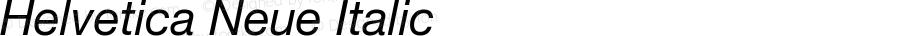Helvetica Neue-Italic