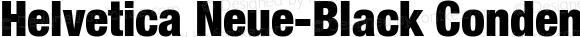 Helvetica Neue-Black Condensed Black Condensed