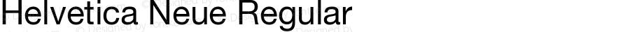 Helvetica Neue-Roman