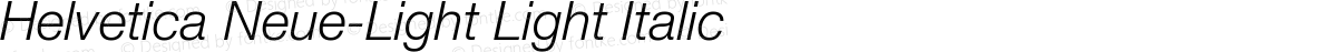 Helvetica Neue-Light Light Italic