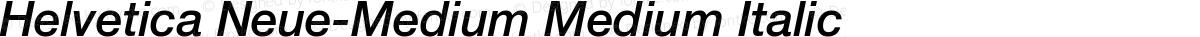 Helvetica Neue-Medium Medium Italic
