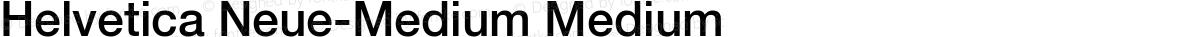 Helvetica Neue-Medium Medium