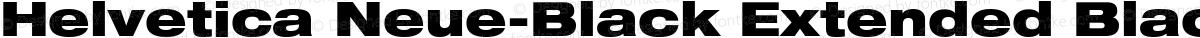 Helvetica Neue-Black Extended Black Extended