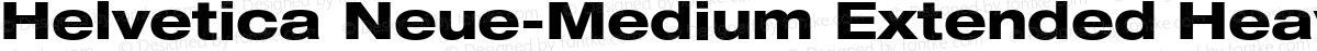Helvetica Neue-Medium Extended Heavy Extended